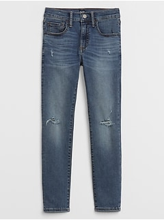 Kids Distressed High Stretch Skinny Jeans
