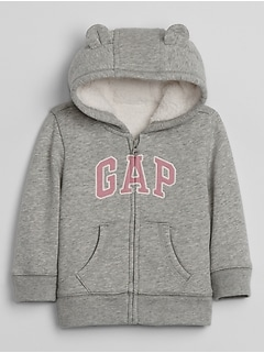 Baby Gap Cozy-Lined Logo  Sweatshirt