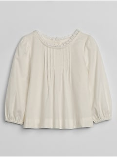 Baby Ruffle Neck Top