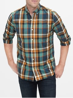 Long Sleeve Poplin Shirt in Standard Fit