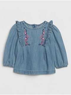 Baby Embroidered Ruffle Shirt