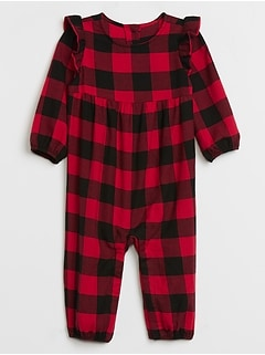 Baby Plaid Flutter One-Piece