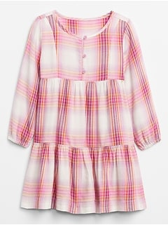 Toddler Long Sleeve Tiered Dress