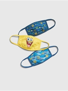 GapKids | Unisex SpongeBob Squarepants Face Mask (3-Pack)