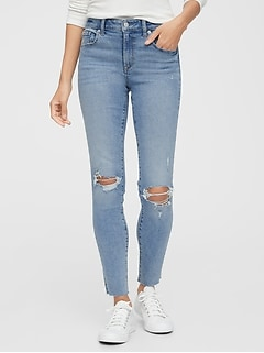 Mid Rise Destructed Universal Legging Jeans