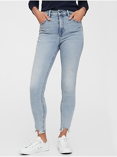 High Rise Universal Legging Jeans With Raw Hem With Washwell™