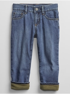 Toddler Lined Straight Jeans