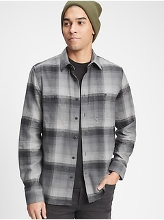 Flannel Shirt in Untucked Fit