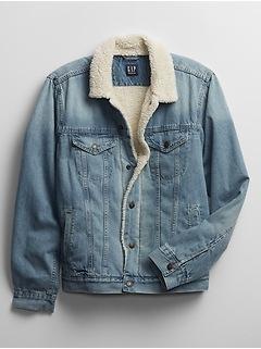 Denim Sherpa Jacket