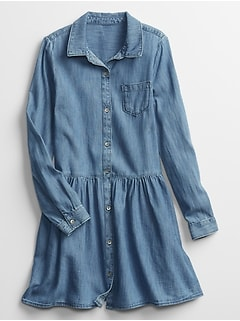 Kids Denim Shirt Dress