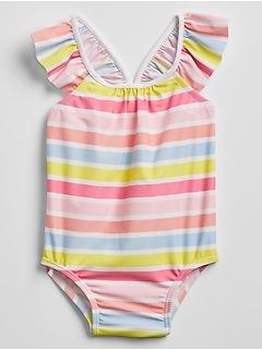 Baby Rainbow Stripe Swim One-Piece