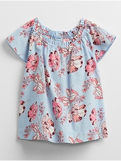 Toddler Ruffle Smocked Shirt