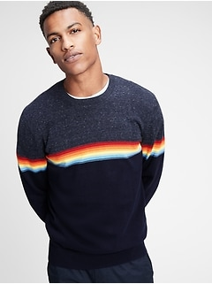 Stripe Crewneck Sweatshirt