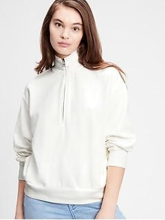 Half-Zip Mockneck Sweatshirt