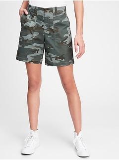 5'' Utility Khaki Camo Shorts with Washwell™