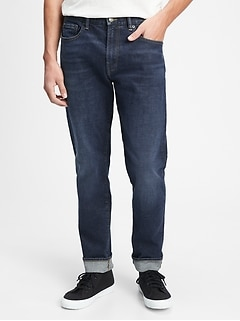 Straight Taper Jeans with GapFlex