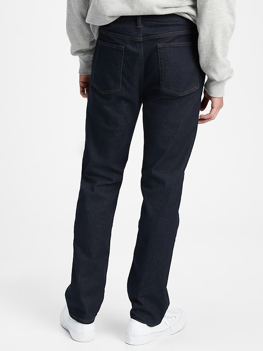 GapFlex All Temp Mid Rise Straight Jeans With Washwell&#153