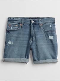 "5"" Mid Rise Distressed Denim Shorts With Washwell&#153"
