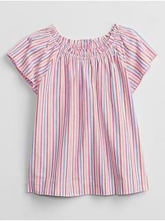 Toddler Striped Smocked Top