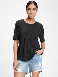 Squareneck Lace T-Shirt